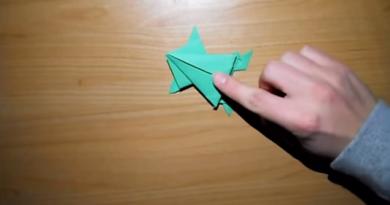 Come fare gli origami di carta semplici per bambini | La rana che salta